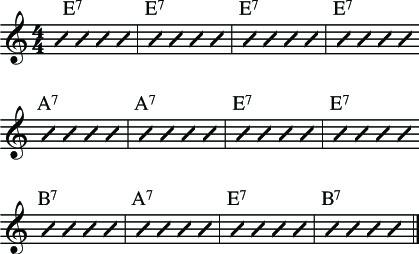 estructura de blues