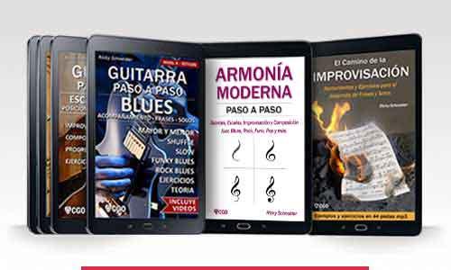 Colección libros de guitarra paso a paso. Libros de guitarra
