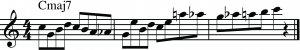 ejemplo de la a Escala Bebop con mp3