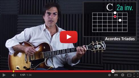 Acordes tríadas en la guitarra