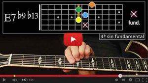 Voicings Autum Leaves - guitarra